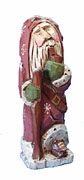Old World Santa Claus woodcarving