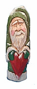 Old World Santa Claus with Heart #14104