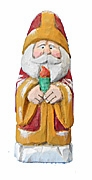 Old World Santa Claus Woodcarving with Candle #16043
