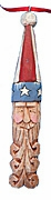 Wood Patriotic Christmas Ornament #15077