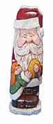 Wood Santa Claus with Child #16006