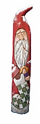Santa Claus with Stocking Wood Carving #13057