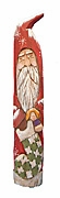 Santa Claus with Stocking Wood Carving #14119