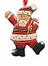 Wood Fok Art Santa Claus Ornament #14109