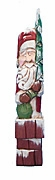 Carved Santa Claus with Christmas Tree #15191