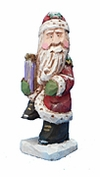 Traditional Santa Claus with Christmas package