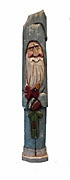 Old World Pencil Santa Claus with Christmas Lantern