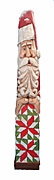 "24"" Santa Claus woodcarving with Quilt"