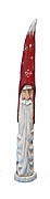 Old World Santa Claus Face Woodcarving