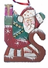 Wood Fok Art Santa Ornament