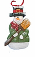 Wood Fok Art  Snowman Ornament #14013