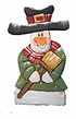 Wood Fok Art  Snowman Ornament