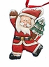 Wood Folk Art Santa Claus Ornament #13245