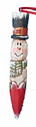 Wood Snowman Ornament with Heart #16010