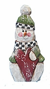 Valentine's Day Wooden Snowman Decoration with Heart #17016