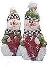 Valentine's Day Wooden Snowman Decoration with Heart
