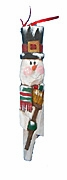 Wooden Snowman Ornament #14046