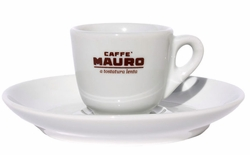 Set of 6 Mauro Espresso Cups / Saucers