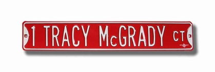 1 Tracy McGrady Ct Street Sign