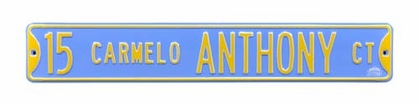 15 Carmelo Anthony Ct Street Sign