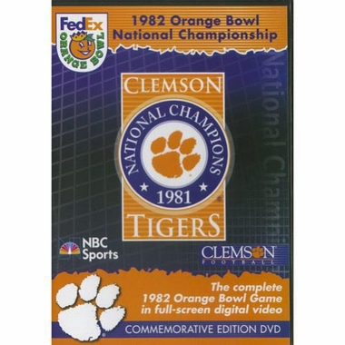 1982 Orange Bowl DVD