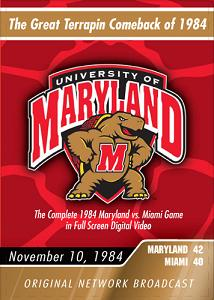 1984 Maryland vs. Miami DVD