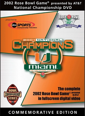 2002 Rose Bowl DVD