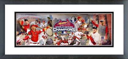 2006 World Series Champion Cardinals Celebration Framed / Double Matted Photoramic