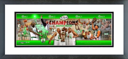 2007-08 Celtics NBA Finals Champions Framed / Double Matted Photoramic