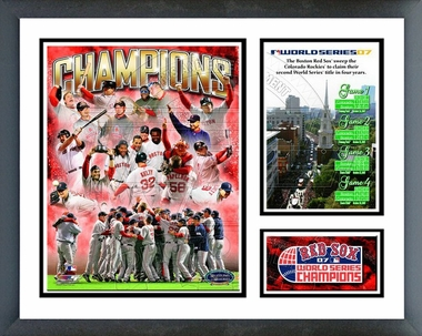 2007 -  Red Sox World Series Champions Framed Milestones & Memories
