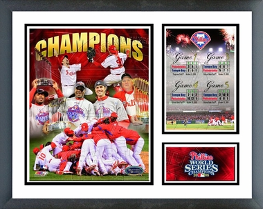 2008 Philadelphia Phillies World Series Champions Framed Milestones & Memories