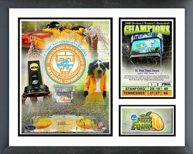 2008 Tennesse Women�s Back-to-Back Champions Framed Milestones & Memories