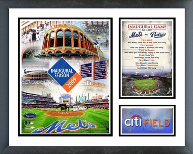 2009 Citi Field Inaugural Game Framed Milestones & Memories #194