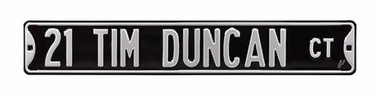21 Tim Duncan Court Street Sign