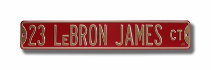 23 Lebron James Ct Street Sign