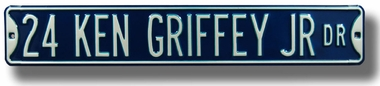 24 Ken Griffey Jr Dr Street Sign