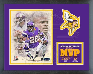 Adrian Peterson 2012 NFL Most Valuable Player Framed Milestones & Memories