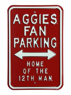 Aggies Parking 12Th Man Parking Sign