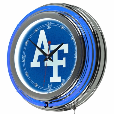 Air Force 14 Inch Neon Clock