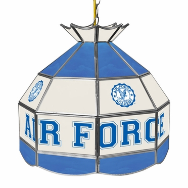 Air Force 16 Inch Diameter Stained Glass Pub Light