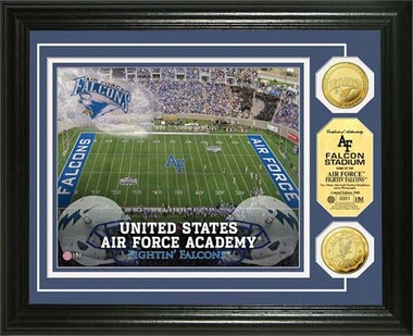 Air Force Academy Falcons  United State Air Force Academy Falcon Stadium 24KT Gold Coin Photomint