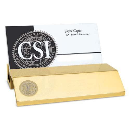 Air Force Gold Business Card Holder