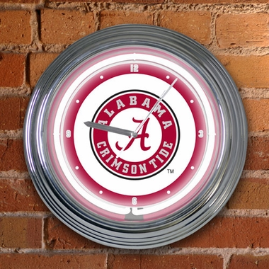 Alabama 15 Inch Neon Clock