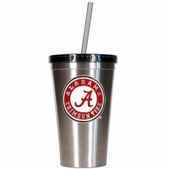 Alabama 16oz Stainless Steel Insulated Tumbler with Straw