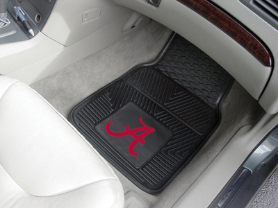 Alabama 2 Piece Heavy Duty Vinyl Car Mats
