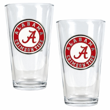 Alabama 2 Piece Pint Glass Set