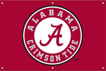 Alabama 2 x 3 Horizontal Applique Fan Banner