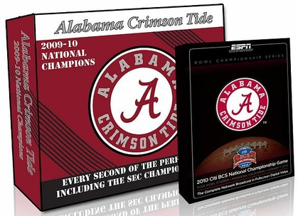 Alabama 2009 Perfect Season DVD Set (w/ BCS Champions DVD)