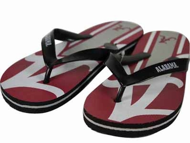 Alabama 2012 Unisex Big Logo Flip Flops - Medium