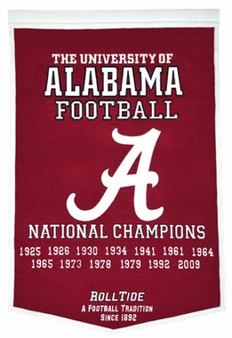 "Alabama 24""x36"" Dynasty Wool Banner"